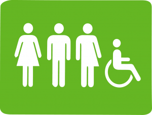 bagno toilette gender neutral genere neutro e per disabili